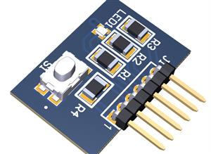 RGB LED with button for multi purpose