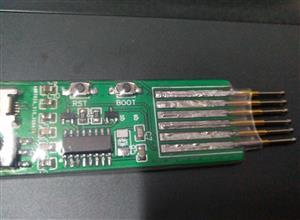 USB serial port test pin