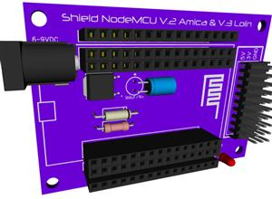 Shield NodeMCU V2 Amica & V3 Lolin