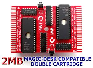 C64  2MB DOUBLE CARTRIDGE (TWIN CART)