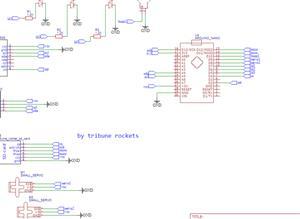 thrust vector rocket ppcb