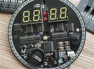 Rotating LED electronic clock SMD