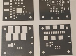 SMD placing with the stencil.