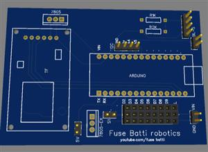 Multi-functional Robot PCB [Jaundice, Mofiza, Speech controlled bot]