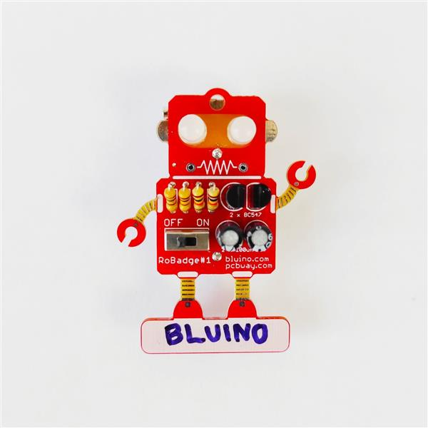 LED Blinking Robot Badge - Soldering Kit