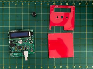 Back panel for uSDX – An Arduino Based SDR All Mode HF Transceiver