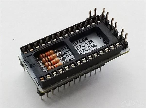 VIC-20 and C64 CHARACTER GEN. ROM REPLACEMENT ADAPTER (COMMODORE)