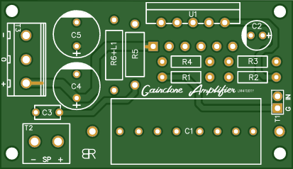 LM4700 Gainclone Amplifier Mono PCB