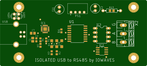 Isolated USB to RS485 converter