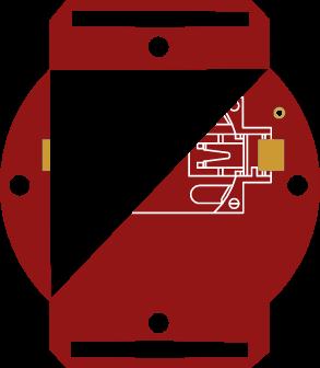 Flashlight watch- bottom part