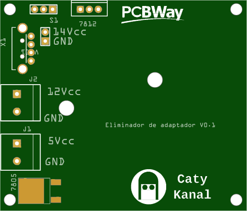 pcb that allows you to change your device from battery eliminator