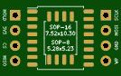 MX25L6405D SOP-16/8 Breakout Board