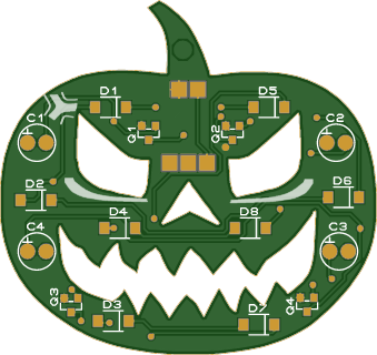 calabaza de Halloween electrónica 2