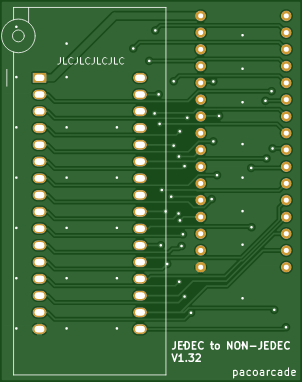 JEDEC to NON-JEDEC adapter