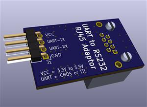 UART-to-RS232 RJ45 Serial Adaptor