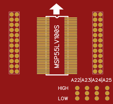 MSP55LV100S Adapter for TL866IIPlus!