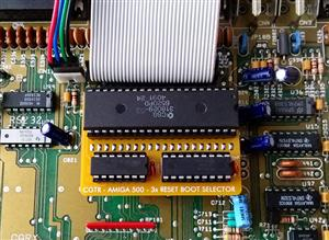 AMIGA 500 - SWITCHLESS BOOT SELECTOR (3 RESET BOOT DRIVE SELECTOR)