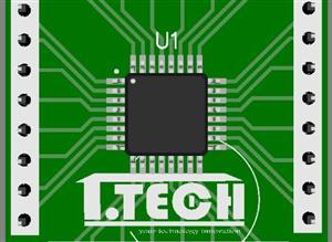 ATMEGA328/8 SMD to DIP PCB