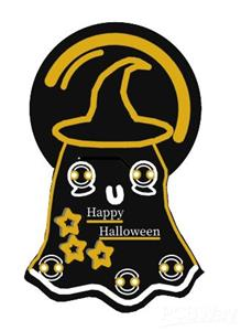 Happy Halloween Badge #Badgelife Cute Ghost