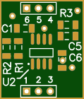 Evaluation board for INAs (INA826 as model)