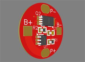 1MOS DW01 lithium battery protection board