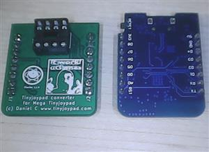( tinyjoypad attiny85) converter for ( mega tinyjoypad with esp8285/esp8266 )