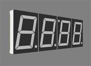1.8 inch digital tube clock