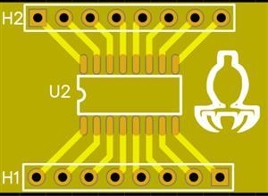 Soic 16 to Dip adaptor
