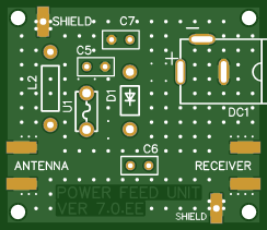 Antenna Mini-Whip PCB (TH)_ Power feed unit_GERBER