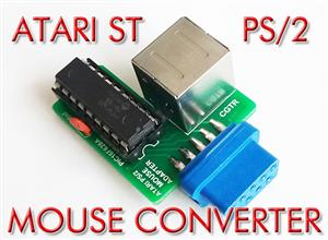ATARI ST PS/2 MOUSE CONVERTER (ADAPTER) - PIC16F628(A)