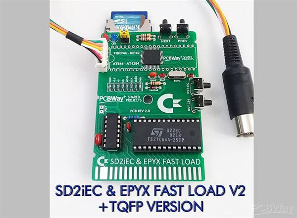 SD2iEC & EPYX FAST LOAD CARTRIDGE V2 (TQFP) FOR COMMODORE 64