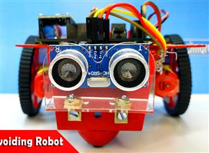Obstacle avoiding robot with arduino nano