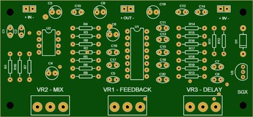 PT2399 GUITAR ECHO DELAY
