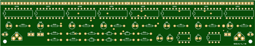 160 LED VU meter MAIN board