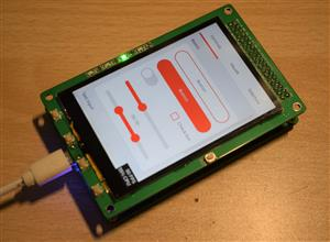 3.5-inch IPS capacitive touch screen module for H743II core board