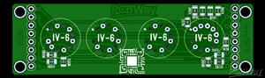 Часы на вакуумно люминесцентных лампах из 90-х rev3.4 ИВ-6 (IV-6) 'PCB 1 out of 3'