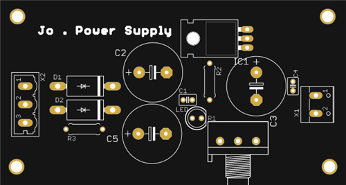 The simple project of Power Supply with LCD