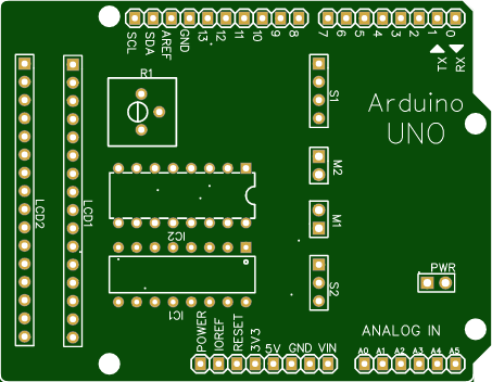 PCB OF IOT BASED AGRICULTURE PROJECT