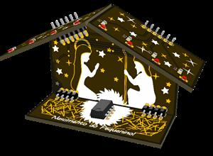 PCB ART Christmas Crib (Dmaneiro88)