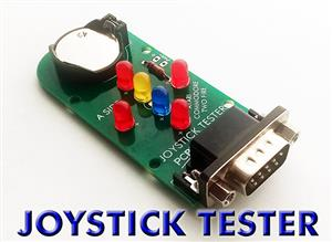 (DIY) 9PIN JOYSTICK TESTER for COMMODORE and ATARI with TWO FIRE BUTTONS