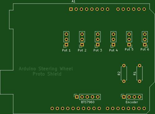 Arduino Leonardo FFB Steering Wheel Proto Shield