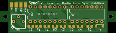 SyncFix - a CSYNC processor for Arcade Supergun