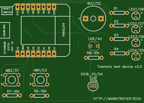 Learning Tasmota PCB