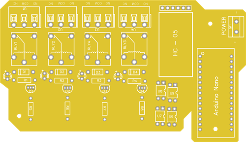 Arduino HC 05 4 - Channel Relay Module