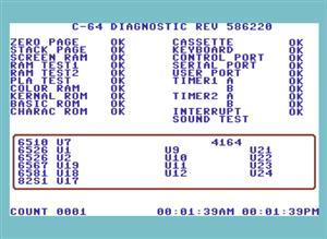 (DIY) KEYBOARD DONGLE for C64 586220 DIAGNOSTIC CARTRIDGE