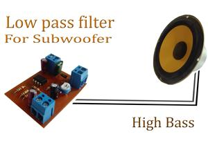 Low pass filter for Subwoofer  12V