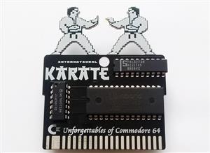 C64 INTERNATIONAL KARATE GAME CARTRIDGE PCB