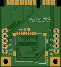 PSVSD 2.1 - SDCard adpater for the PS Vita