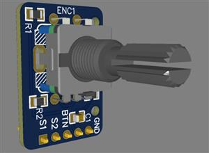 Encoder EC11 with hardware anti-bounce system