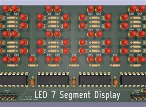 Discrete 4-digit LED 7-segment display
